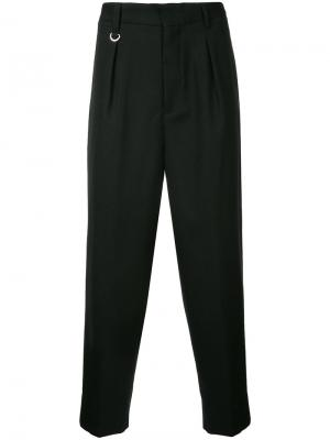 Классические плиссированные брюки monkey time. Цвет: чёрный