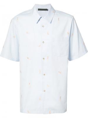 Рубашка с короткими рукавамиBeach Babes Alexander Wang. Цвет: синий