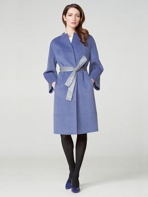 Пальто Pompa. Цвет: серо-голубой