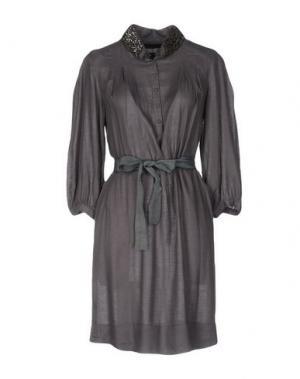 Короткое платье AMBRE BABZOE. Цвет: серый