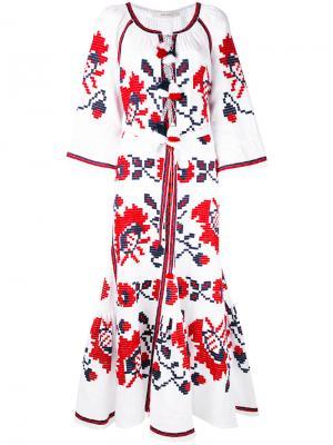 Платье с цветочными мотивами Vita Kin. Цвет: белый