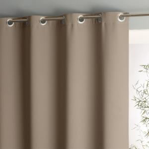 Штора затемняющая, двусторонняя, с люверсами VODA La Redoute Interieurs. Цвет: светло-коричневый,светло-серый,серо-коричневый каштан,синий морской,темно-серый,экрю