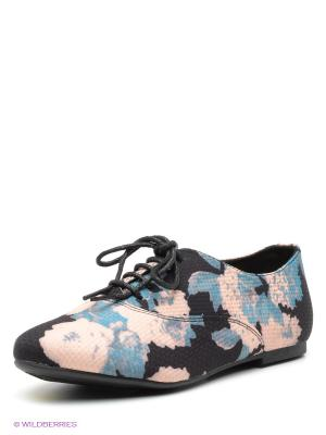 Ботинки New Look. Цвет: черный, серо-голубой, бледно-розовый