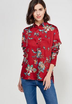 Рубашка Mango. Цвет: бордовый