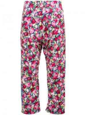Широкие брюки с заниженным шаговым швом Les Animaux. Цвет: многоцветный