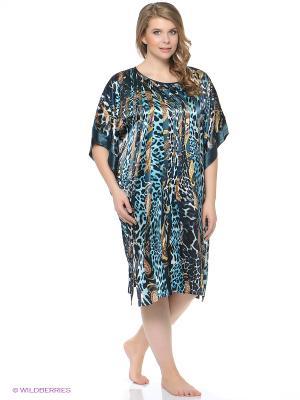 Платье - туника Del Fiore. Цвет: морская волна
