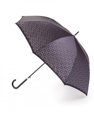 Зонт-трость автомат Черная лилия Henry Backer. Цвет: серый
