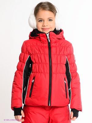 Куртка CACAO. Цвет: красный, черный