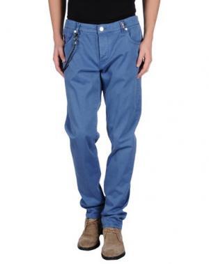 Повседневные брюки TRAMAROSSA. Цвет: пастельно-синий