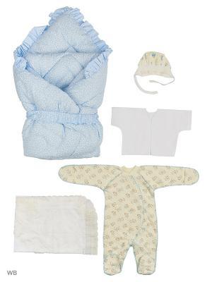 Конверты для малышей KIDONLY. Цвет: голубой, белый