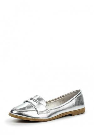 Лоферы Max Shoes. Цвет: серебряный