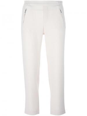 Укороченные брюки Steffen Schraut. Цвет: белый