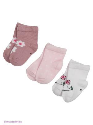 Носки для новорожденных PERA MAYA. Цвет: розовый, белый, фиолетовый