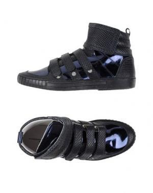 Высокие кеды и кроссовки ALESSANDRO DELL'ACQUA. Цвет: темно-синий