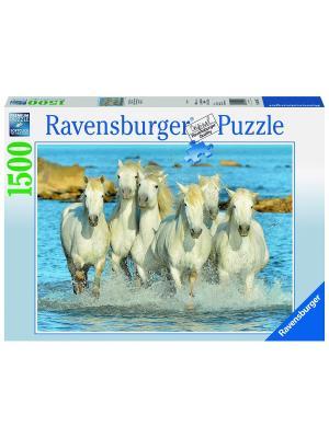 Пазл  Рысью в прибое 1500 шт Ravensburger. Цвет: голубой, зеленый, коричневый