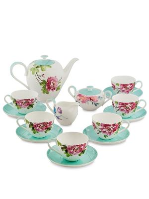 Чайный сервиз на 6 перс. Тоскана (Toscana Pavone) Pavone. Цвет: белый