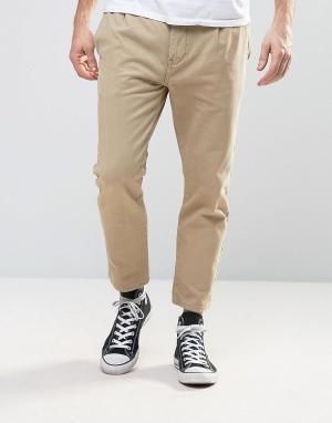 Rollas Песочные брюки-карго Stubs. Цвет: бежевый
