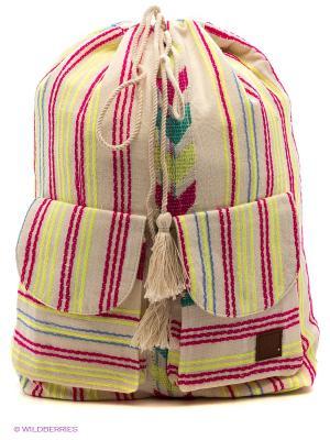 Рюкзак BILLABONG. Цвет: бежевый, фуксия, желтый