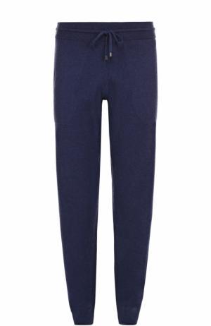 Домашние брюки из смеси хлопка и кашемира Zimmerli. Цвет: темно-синий