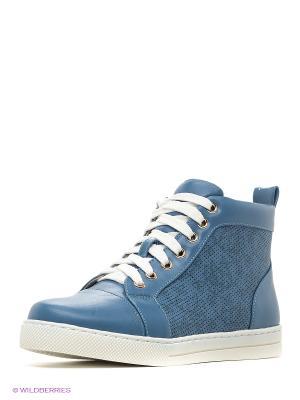 Ботинки Kari. Цвет: синий, белый