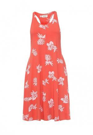 Платье Volcom. Цвет: коралловый
