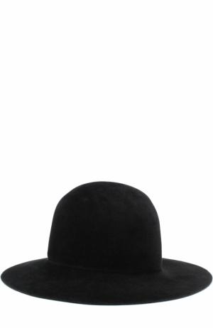 Фетровая шляпа Yohji Yamamoto. Цвет: черный