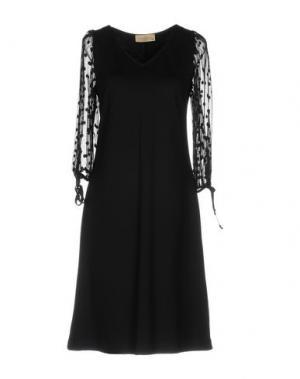 Платье до колена JUST FOR YOU. Цвет: черный