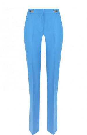 Укороченные шерстяные брюки Victoria, Victoria Beckham. Цвет: голубой