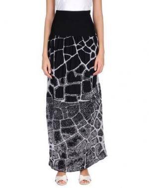 Длинная юбка MANOSTORTI. Цвет: черный