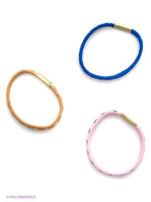 Комплект (3 резинки) Migura. Цвет: синий, коричневый, розовый