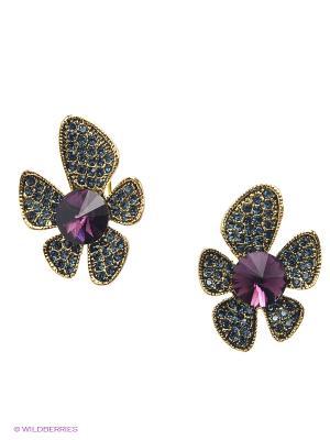 Серьги Bijoux Land. Цвет: фиолетовый