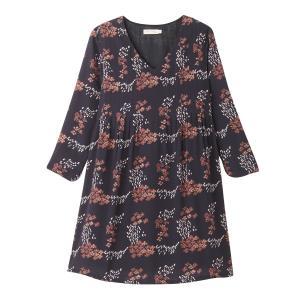 Платье короткое с принтом, рукава длинные SEE U SOON. Цвет: рисунок/фон черный