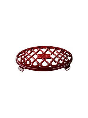 Подставка LA CUISINE под горяч.чугун.26*18см красн. Цвет: красный