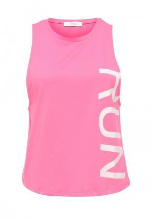 Майка спортивная Gym & Soul. Цвет: розовый