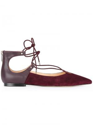 Балетки на шнуровке Sam Edelman. Цвет: розовый и фиолетовый