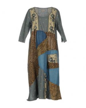 Платье длиной 3/4 KAPITAL. Цвет: грифельно-синий