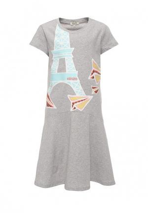 Платье Kenzo. Цвет: серый