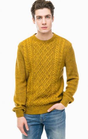 Трикотажный свитер горчично-желтого цвета Mavi. Цвет: желтый