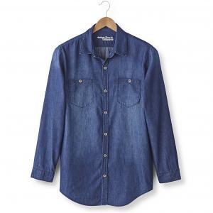 Джинсовая рубашка (+ 1,87 м) TAILLISSIME. Цвет: темно-синий