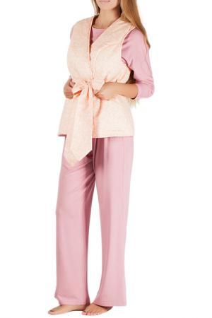 Комплект домашний MONNA MURR. Цвет: розово-персиковый