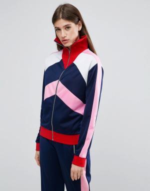 ASOS Спортивная куртка со вставками колор блок. Цвет: мульти