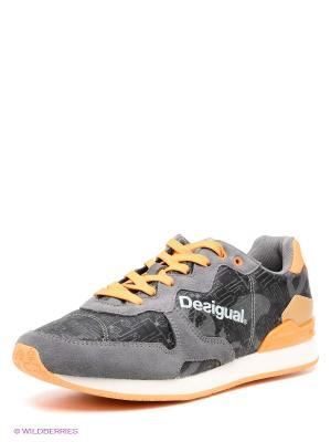 Кроссовки Desigual. Цвет: темно-серый, оранжевый