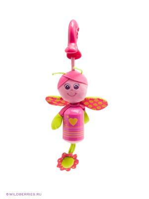 Подвеска-колокольчик Бабочка Tiny Love. Цвет: розовый (осн.), зеленый