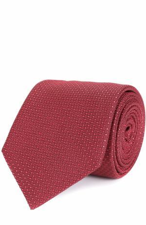 Шелковый галстук с узором Canali. Цвет: красный
