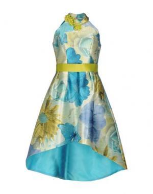 Платье до колена CASTING. Цвет: лазурный
