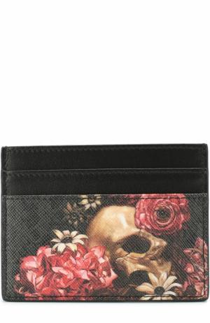 Футляр для кредитных карт с отделкой из натуральной кожи Dior. Цвет: темно-серый