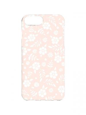 Чехол для iPhone 7Plus Розовый принт Арт. 7Plus-142 Chocopony. Цвет: розовый, белый
