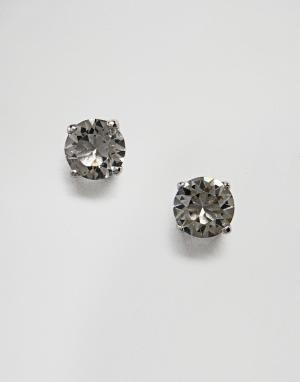 Simon Carter Круглые серьги-гвоздики с черными кристаллами Swarovski от Carte. Цвет: черный