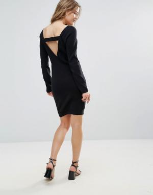 The English Factory Платье-джемпер с лямками на спине. Цвет: черный