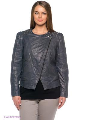 Куртка JUNAROSE. Цвет: серо-голубой